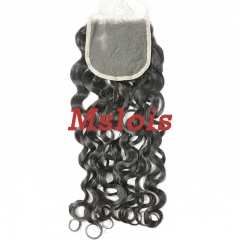 #1b Brazilian Virgin Human Hair 4x4 Lace Closure Italy Curly